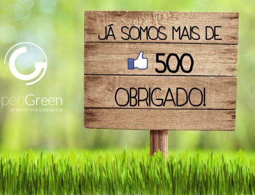 500 Seguidores no Facebook